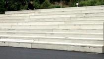 Sittetribune i betong