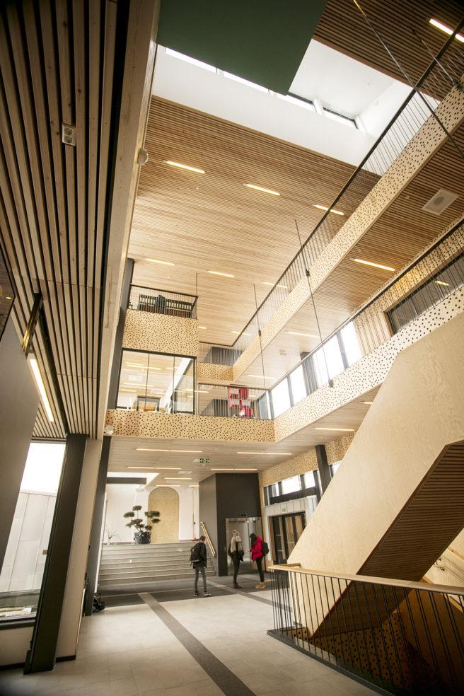 Voss VGS er et av samarbeidsprosjektene med Constructa. Foto: Margretha Østerdal