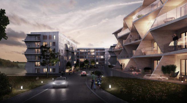 Urbant og maritimt: Leilighetene mot Straumssundet kombinerer urbane og maritime løsninger. ILLUSTRASJON: LINK arkitektur AS og Brick Visual
