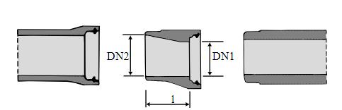 Dimensjonsovergang illustrasjon.
