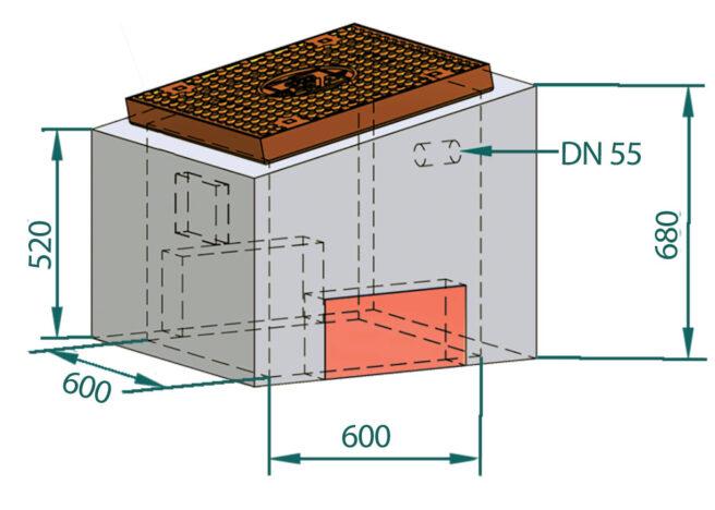 Basal LED-kum skrå