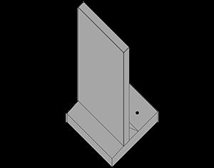 Støttemur L-element