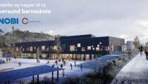 Hulldekke og trapper til ny barneskole for Alver Kommune.
