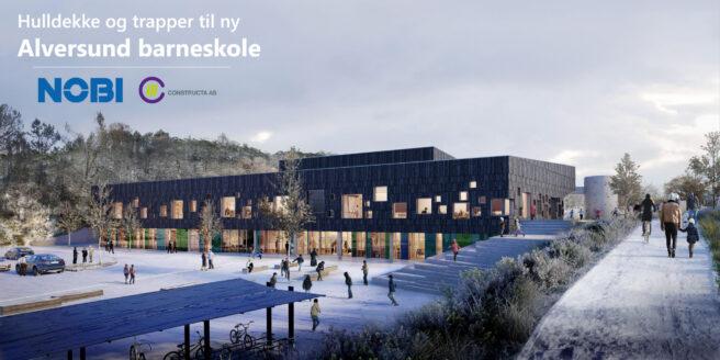 Hulldekke og trapper til Alversund barneskole